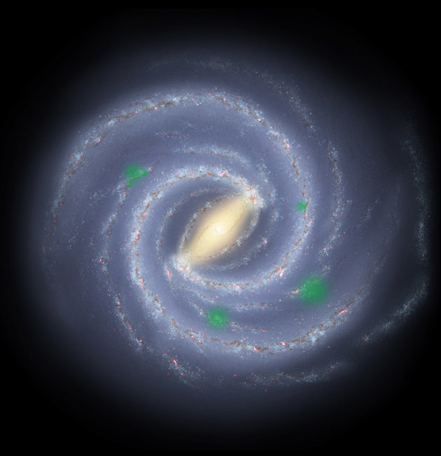 "<span class='image-component__caption' itemprop=""caption""><span style=""font-family: Arial, Helvetica, sans-serif; font-size: 14px; line-height: 20px; background-color: #eeeeee;"">In this artist's rendition of the Milky Way galaxy, translucent green ""bubbles"" mark areas where life has spread beyond its home system to create cosmic oases, a process called panspermia. New research suggests that we could detect panspermia if it is indeed a real phenomenon.</span></span>"